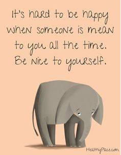 be kind to your self elephant